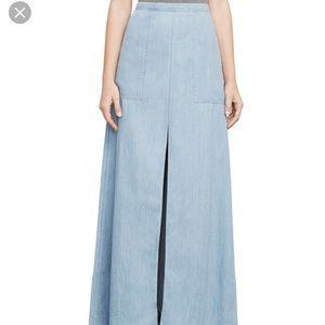 BCBGMaxAzria Skirts - NWT Floor length chambray skirt